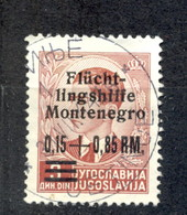 Reich, Montenegro, German Occupation - Mi.No. 20, Cancelled, Cetinje 31.08.1944. / 2 Scans - Montenegro