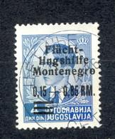 Reich, Montenegro, German Occupation - Mi.No. 21, Cancelled, Cetinje 31.08.1944. / 2 Scans - Montenegro