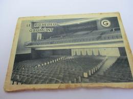 Calendrier De Poche à 2 Volets/Cinéma/ Le Richelieu GAUMONT/La Marque Des Meilleurs Programmes/ 1958              CAL422 - Calendriers