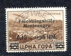 Reich, Montenegro, German Occupation - Mi.No. 27, Cancelled, Cetinje 27.05.1944. / 2 Scans - Montenegro