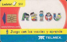 Mexico - MX-TEL-PUZ-011-1 - Vocales, Las 5. Juega Con Las Vocales Y Aprende 1/6 - Puzzle 1/6 - Mexico