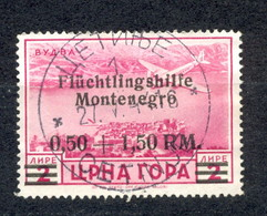 Reich, Montenegro, German Occupation - Mi.No. 28, Cancelled, Cetinje 27.05.1944. / 2 Scans - Montenegro