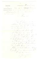 France. Lettre Manuscrite D'information, De La Mairie De Ste-Geneviève-des Bois, Montargis, Loiret. 1884. - Manuscripten