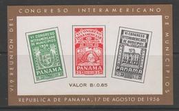 BLOC NEUF DE PANAMA - 6E CONGRES INTERNATIONAL DES MUNICIPALITES N° Y&T 2 - Panama
