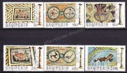 Albania - Albanie 1974 Yvert 1492- 97,  Mosaics From Boutrinte, Popradec & Apolloni - MNH - Albanien