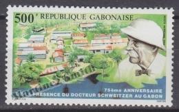 Gabon 1988 Yvert A 286, 75th Anniversary Of Doctor Schweitzer Presence - Airmail - MNH - Gabón (1960-...)