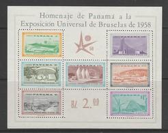 BLOC NEUF DE PANAMA - EXPOSITION UNIVERSELLE DE BRUXELLES DE 1958 N° Y&T 5 - 1958 – Bruxelles (Belgique)