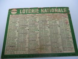Calendrier De Poche à 1 Volet/LOTERIE NATIONALE/ Tirage Tous Les Mercredi/ 1964 CAL425 - Calendriers