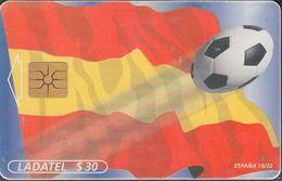 Mexico - MX-TEL-SN-034-16 -  Soccer - Flags Worldcup 1998 - España 16/32 - Mexico