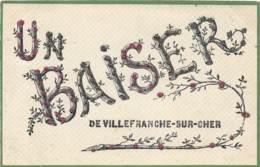 41 - LOIR ET CHER / Villefranche Sur Cher - 412962 - Belle Carte Fantaisie - Paillettes - Autres Communes