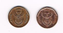 /   ZUID AFRIKA ( AFRIKA  DZONGA ) 2 X 10 CENTS  2002/2015 - Afrique Du Sud