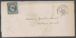 Pas De Calais:  P.c.1892 Sur N°14A + CàD MARQUISE(61) Sur LAC De 1854 - 1849-1876: Période Classique
