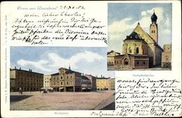 Cp Rosenheim Im Alpenvorland Oberbayern, Marktplatz, Stadtpfarrkirche - Alemania