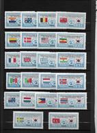 Corée Du Sud - 1951 - Série Des Drapeaux Bleu Et Noir Dont 108a - Italie Royal - Neufs ** Sans Charnière - TB - Corée Du Sud