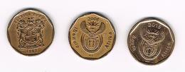/  ZUID AFRIKA  3 X 20 CENTS  1997/2008/2015 - Sudáfrica