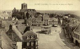 59 MONT CASSEL - UN COIN DE LA PLACE EL L'EGLISE - Cassel