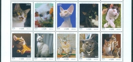 BRAZIL 2018  -  CATS  -  DOMESTIC ANIMALS - BLK OF 10 Stamps  - MINT - Brasil