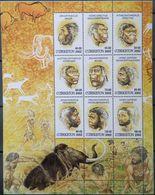 Uzbekistan, 2002, Mi. 442-50, Sc. 328, SG 410, Prehistoric Animals, Mammoth, MNH - Uzbekistan