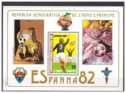 0704 Sao Tome 1982 World Championship Soccer Voetbal S/S MNH - Wereldkampioenschap