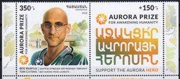 ARMENIA, 2018, MNH,AURORA PRIZE FOR AWAKENING HUMANITY, DOCTOR TOM CATENA, MEDICINE, 2v - Other