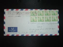 LETTRE Par AVION Pour La FRANCE TP AL FHAFJI  10 H BLOC DE 8 OBL.MEC.22-10 1984 MEDINE - Arabie Saoudite
