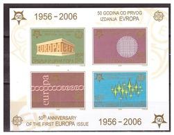 0901 Serbia & Montenegro 2016 50 Year Europa Europe CEPT S/S MNH Imperf - Europa-CEPT