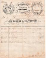 1853 - VERVIERS (Belgique) Ateliers De Constructions De Machines Et Fonderies - J.D. HOUGET & Ch. TESTON - Historical Documents