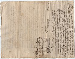 VP13.285 - Cachet Généralité De LIMOGES - Acte De 1753 ANGOULEME X RUELLE SUR TOUVRE à Déchiffrer - Seals Of Generality