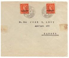 Maroc. Poste  Anglaise. Face De Lettre Tanger Avec 2 Timbre Et 2 Oblitérations. 1957. Marcophilie. - Uffici In Marocco / Tangeri (…-1958)