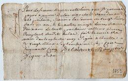 VP13.286 - RUELLE SUR TOUVRE - Acte De 1755 - Billet - Manuscripts