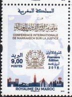 MOROCCO, 2018, MNH, JUSTICE CONFERENCE MARAKESH, TRAINS, BRIDGES,1v - Stamps