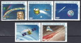 Replublique Centrafricaine Yv  PA 341/5, Passage De La Comète De Halley  ** Mnh - Astrologie