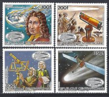 Replublique Centrafricaine Yv 714/17, Passage De La Comète De Halley  ** Mnh - Astrologie