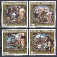 République Centrafricaine Yv 718/21,Hommage à Christophe Colomb  ** Mnh - Centrafricaine (République)