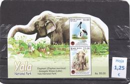 Sri Lanka   -  Hoja Bloque  Nueva**   (Fauna Animales - Wildlife Animals)  - 11/10105 - Sri Lanka (Ceilán) (1948-...)