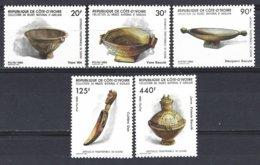Cote D'Ivoire  Yv 741/5  Ustensiles Traditionnels De Cuisine ** Mnh - Côte D'Ivoire (1960-...)