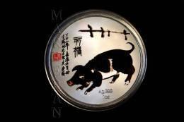 "MEDALLA HORÓSCOPO CHINO CERDO ""QI BAISHI"" (40 Mm) - China"