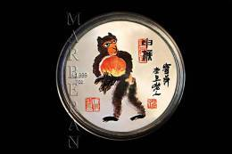 "MEDALLA HORÓSCOPO CHINO MONO ""QI BAISHI"" (40 Mm) - China"