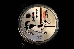 "MEDALLA HORÓSCOPOS CHINO PERRO ""QI BAISHI"" (40 Mm) - China"