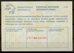 MAROC / MOROCCO La25A  6,00 / 5,30 DIRHAMS International Reply Coupon Reponse Antwortschein IRC IAS  O JERADA - Marokko (1956-...)