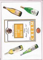 Etiquetas De Vinos. Conjunto De 10 Hojas De Álbum Con Etiquetas Y Publicidad De Bebidas - Alcoholes