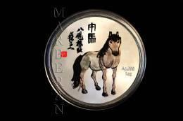 """MEDALLA HORÓSCOPO CHINO CABALLO """"QI BAISHI"""" (40 Mm) - China"""