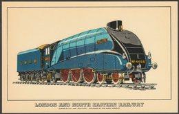 London And North Eastern Railway Class A/4 No 4468 'Mallard' - Prescott-Pickup Postcard - Trains