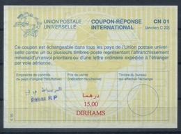 MAROC / MOROCCO La29A  15,00 DIRHAMS International Reply Coupon Reponse Antwortschein IRC IAS  O Rabat RP - Marokko (1956-...)