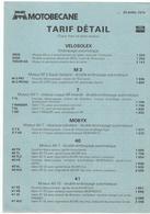 Doc  Motobecane  Tarif Detail 25.04.1979   Velo Solex - France
