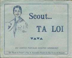 SCOUTISME   10 CARTES DANS ENVELOPPE    SCOUT  TA LOI  ( SCOUTS DU PONTIA  HUY ) - Scoutisme