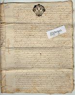 VP13.289 - Cachet Généralité De LIMOGES - RUELLE SUR TOUVRE - Acte De 1755 à Déchiffrer - Seals Of Generality