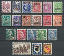 ALGERIE 1945/47 . Série N°s 225 à 244 . Neufs **  (MNH) - Algérie (1924-1962)