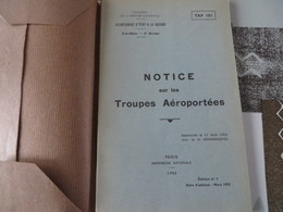 Notice Sur Les Troupes Aéroportées - Autres