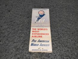 ANTIQUE MATCHBOX MATCHES LABEL ADVERTISING PAN AMAERICAN WORLD AIRWAYS UNITED STATES - Matchboxes